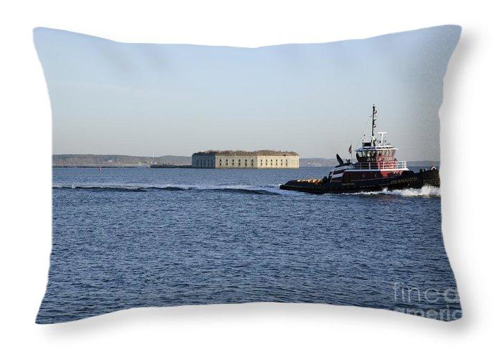 Portland Throw Pillow featuring the photograph Casco Bay - South Portland Maine Usa by Erin Paul Donovan