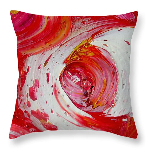 Throw Pillow featuring the painting Casino by Dawn Hough Sebaugh