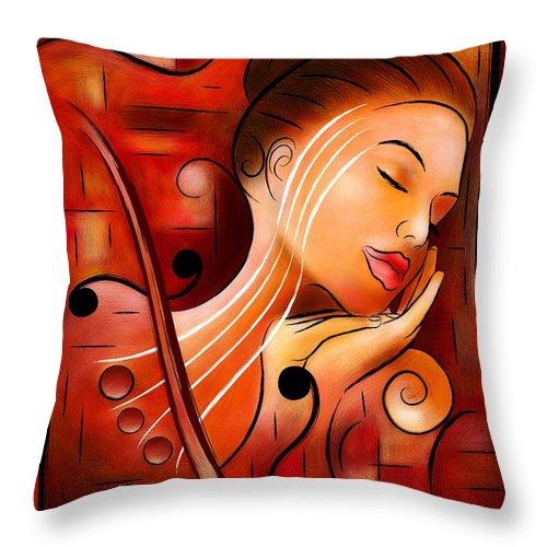 Dream Throw Pillow featuring the digital art Casselopia - Violin Dream by Cersatti