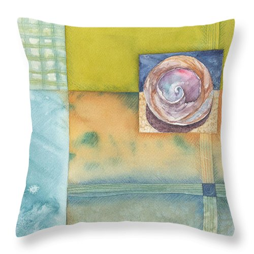 Castaway Throw Pillow featuring the painting Castaway by Casey Rasmussen White