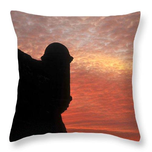 Castillo De San Marcos National Monument Florida Throw Pillow featuring the photograph Castillo De San Marcos by David Lee Thompson