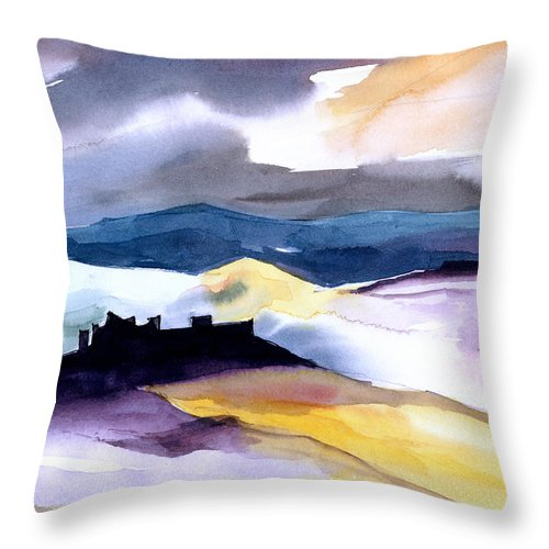Water Throw Pillow featuring the painting Castle by Anil Nene
