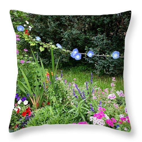 Garden Throw Pillow featuring the photograph Castle Garden In Germany by Carol Groenen