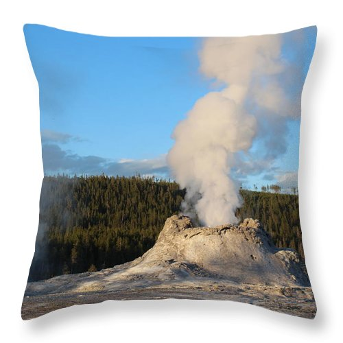 Geyser Throw Pillow featuring the photograph Castle Geyser by John Connor Bray