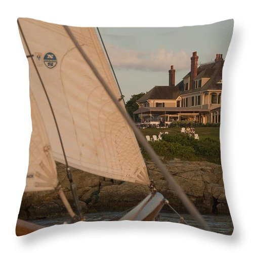 Castle Hill Throw Pillow featuring the photograph Castle Hill by Steven Natanson