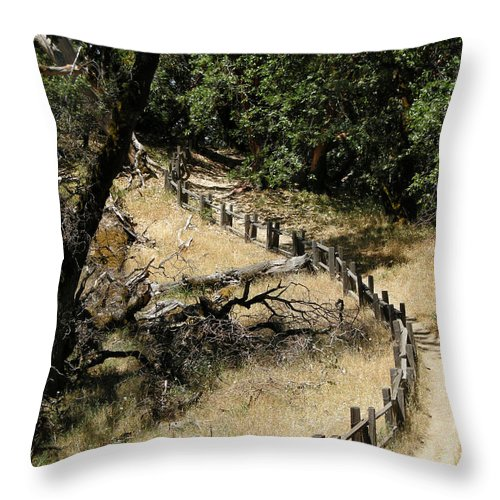 Landscapes Throw Pillow featuring the photograph Castle Rock Sp by Karen W Meyer