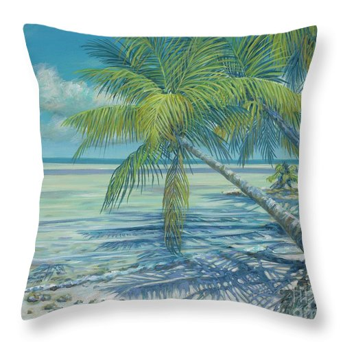 Cat Cay Throw Pillow featuring the painting Cat Cay Chill by Danielle Perry