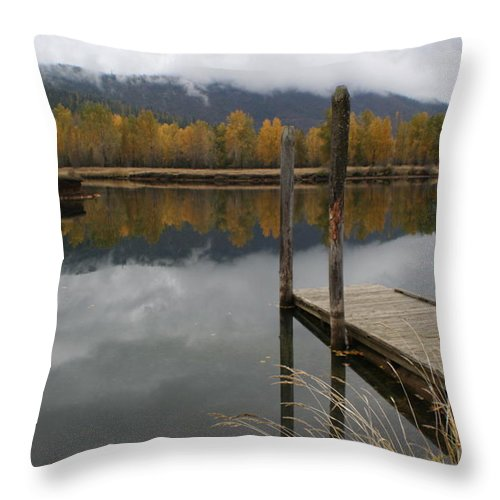 Cataldo Throw Pillow featuring the photograph Cataldo Reflections by Idaho Scenic Images Linda Lantzy