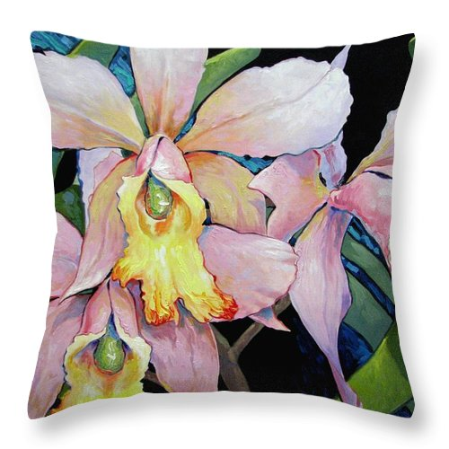 Catalya Throw Pillow featuring the painting Catalya Arrangement by Jerrold Carton