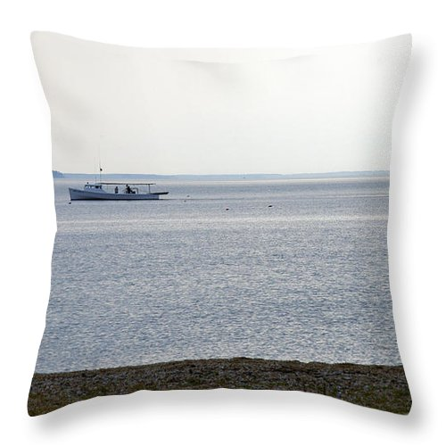 Clay Throw Pillow featuring the photograph Catch Of The Day by Clayton Bruster