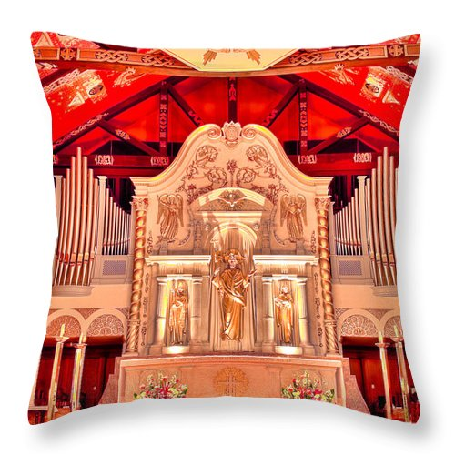 Cathedral Throw Pillow featuring the photograph Cathedral Basilica Of St. Augustine by Rich Leighton