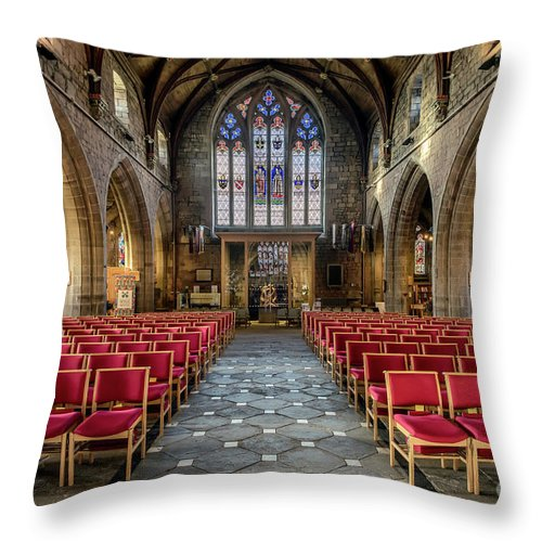 Cathedral Throw Pillow featuring the photograph Cathedral Entrance by Adrian Evans