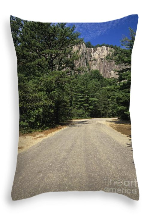 Travel Throw Pillow featuring the photograph Cathedral Ledge State Park - Conway New Hampshire Usa by Erin Paul Donovan