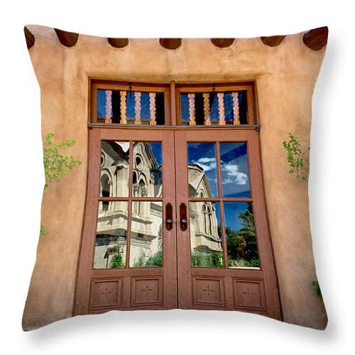 St. Catherine Throw Pillow featuring the photograph Cathedral Reflected by Glennis Siverson
