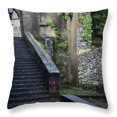 Stairs Throw Pillow featuring the photograph Cathedral Stairs by Tim Nyberg