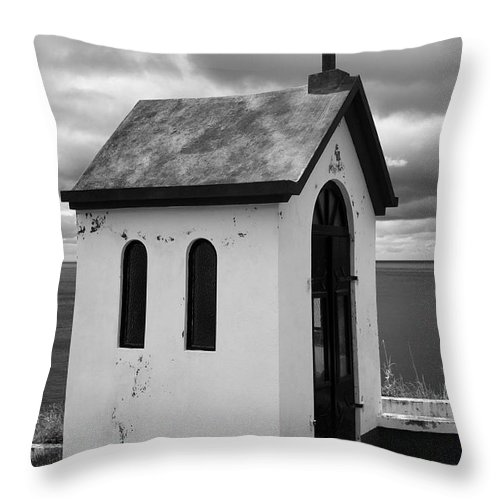 Azores Throw Pillow featuring the photograph Catholic Chapel by Gaspar Avila
