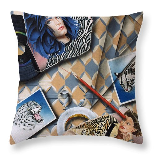 Cats Throw Pillow featuring the painting Cats by Shaun McNicholas