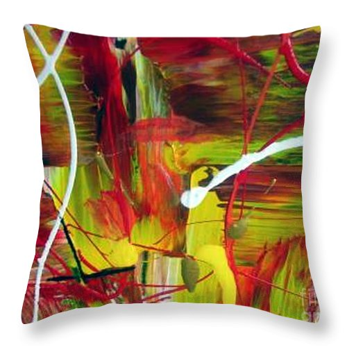 Caution Throw Pillow featuring the painting Caution by Dawn Hough Sebaugh