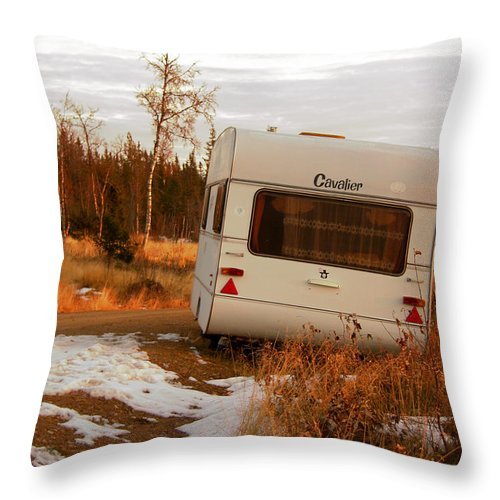 Caravan Throw Pillow featuring the photograph Cavalier by Are Lund