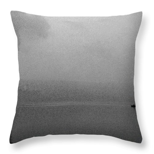 Solitude Throw Pillow featuring the photograph Cayuga Solitude by Jean Macaluso
