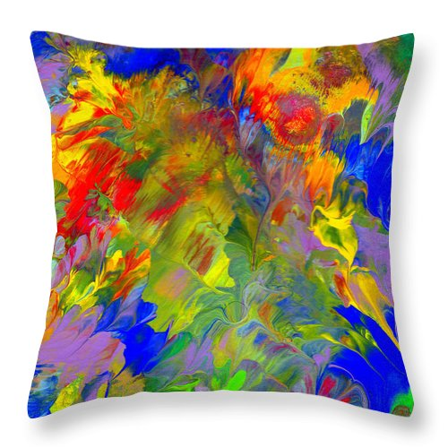 Abstract Art Print Throw Pillow featuring the painting Cc093 by John Kohn