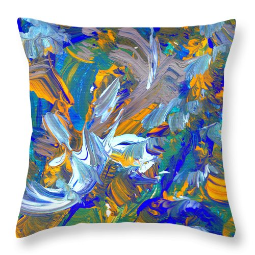 Abstract Art Print Throw Pillow featuring the painting Cc097 by John Kohn