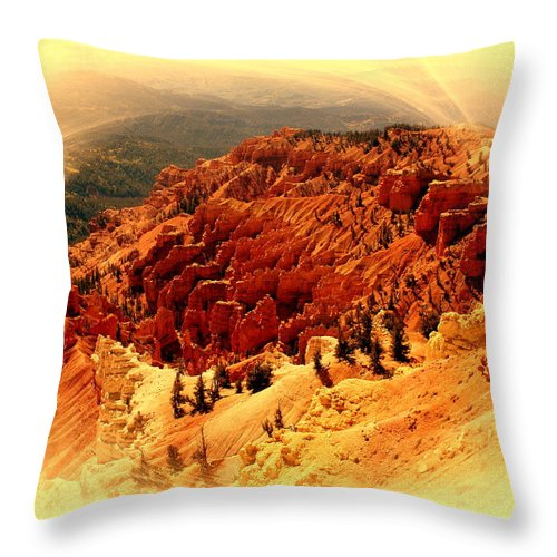Cedar Breaks Throw Pillow featuring the photograph Cedar Breaks 2 by Marty Koch