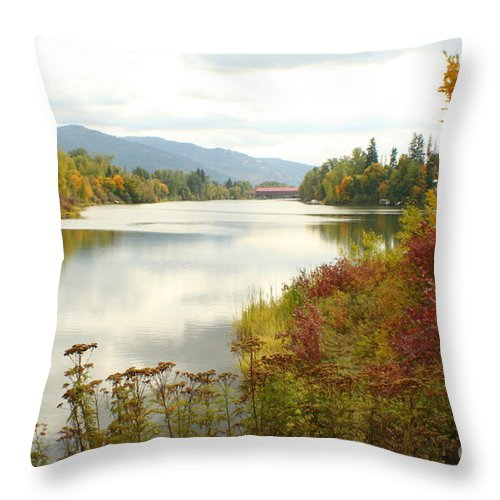 Cedar Throw Pillow featuring the photograph Cedar Street Bridge by Idaho Scenic Images Linda Lantzy