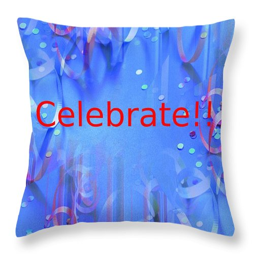 Celebrate Throw Pillow featuring the photograph Celebrate 1 by Tim Allen