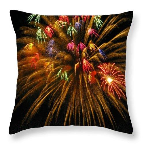 Fireworks Throw Pillow featuring the photograph Celebrate by Rhonda Barrett