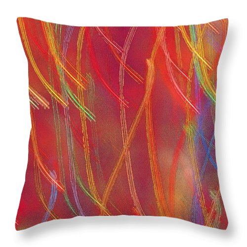Abstract Throw Pillow featuring the photograph Celebration by Gaby Swanson