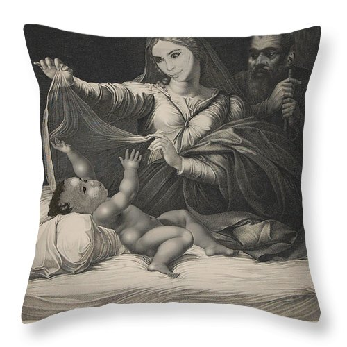 'celebrity Etchings' Collection By Serge Averbukh Throw Pillow featuring the photograph Celebrity Etchings - North Kim and Kanye by Serge Averbukh