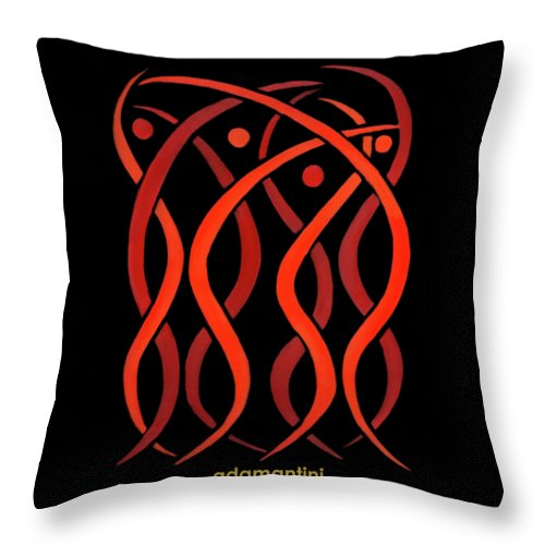 Celestial Flames Throw Pillow featuring the painting Celestial Flames by Adamantini Feng shui