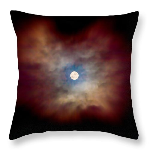 Celestial Throw Pillow featuring the photograph Celestial Moon by Az Jackson