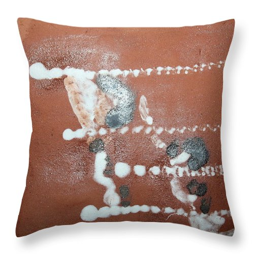 Jesus Throw Pillow featuring the ceramic art Celia And Brian - Tile by Gloria Ssali