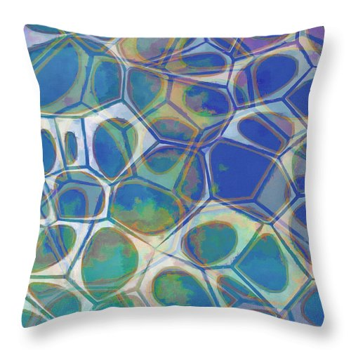 Painting Throw Pillow featuring the painting Cell Abstract 13 by Edward Fielding