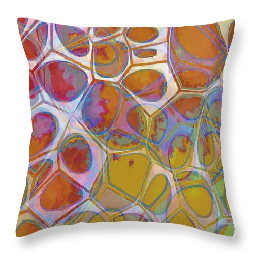 Painting Throw Pillow featuring the painting Cell Abstract 14 by Edward Fielding
