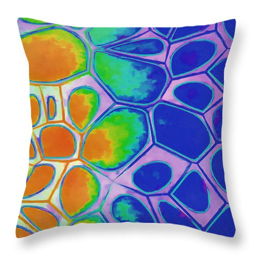 Painting Throw Pillow featuring the painting Cell Abstract 2 by Edward Fielding
