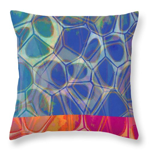 Painting Throw Pillow featuring the painting Cell Abstract One by Edward Fielding