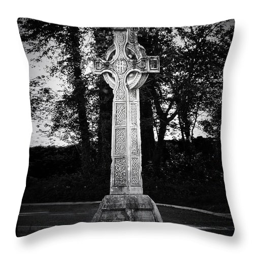 Irish Throw Pillow featuring the photograph Celtic Cross In Killarney Ireland by Teresa Mucha