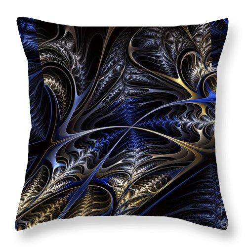 alien Garden Throw Pillow featuring the digital art Centari's Garden by Shari Nees