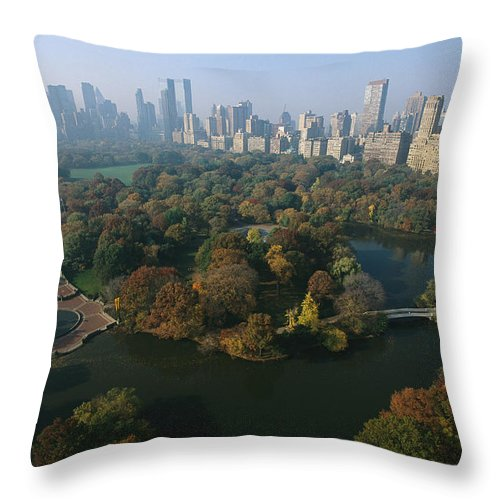 North America Throw Pillow featuring the photograph Central Parks Bethesda Fountain by Melissa Farlow