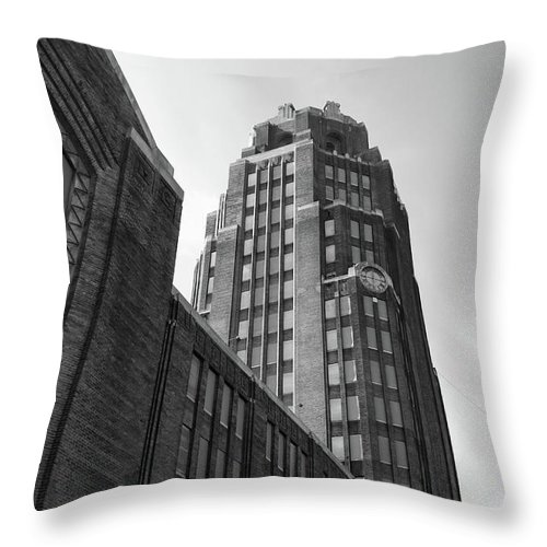 Buildings Throw Pillow featuring the photograph Central Terminal 15142 by Guy Whiteley