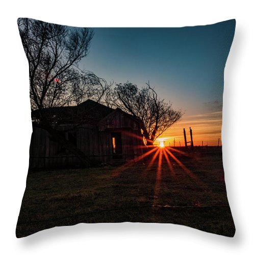 Sunrise Throw Pillow featuring the photograph Central Texas Sunrise by Jerry Connally