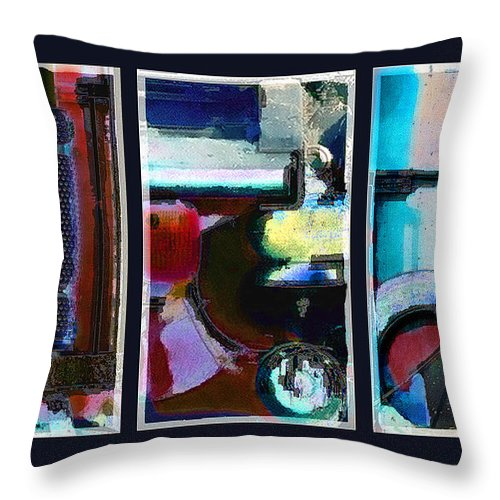 Abstract Throw Pillow featuring the digital art Centrifuge by Steve Karol