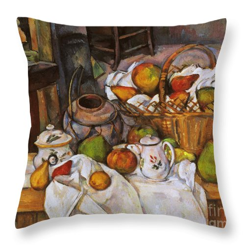 1890 Throw Pillow featuring the photograph Cezanne: Table, 1888-90 by Granger