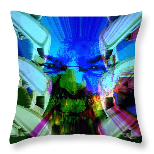 Terrorism Throw Pillow featuring the digital art Chains Of Terror by Seth Weaver