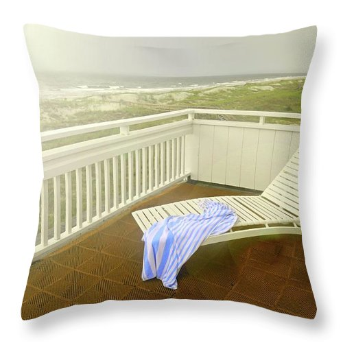 Chaise Lounge Throw Pillow featuring the photograph Chaise Lounge by Diana Angstadt