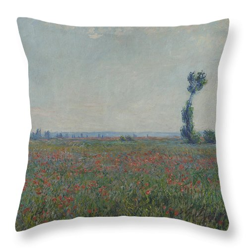 Champ De Coquelicots 1881 Throw Pillow for Sale by Claude Monet