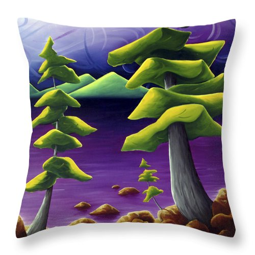 Landscape Throw Pillow featuring the painting Change Of Pace by Richard Hoedl